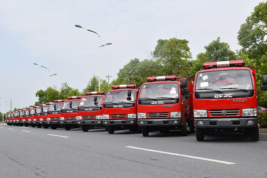 [May,2015] To Tajikistan-20 Units 4000 Liters Dongfeng Fire Fighting Truck