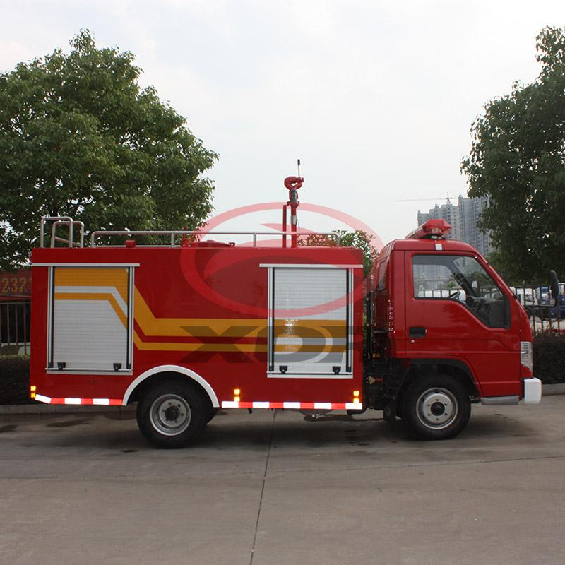 mini 1.5m3 fire fighting truck