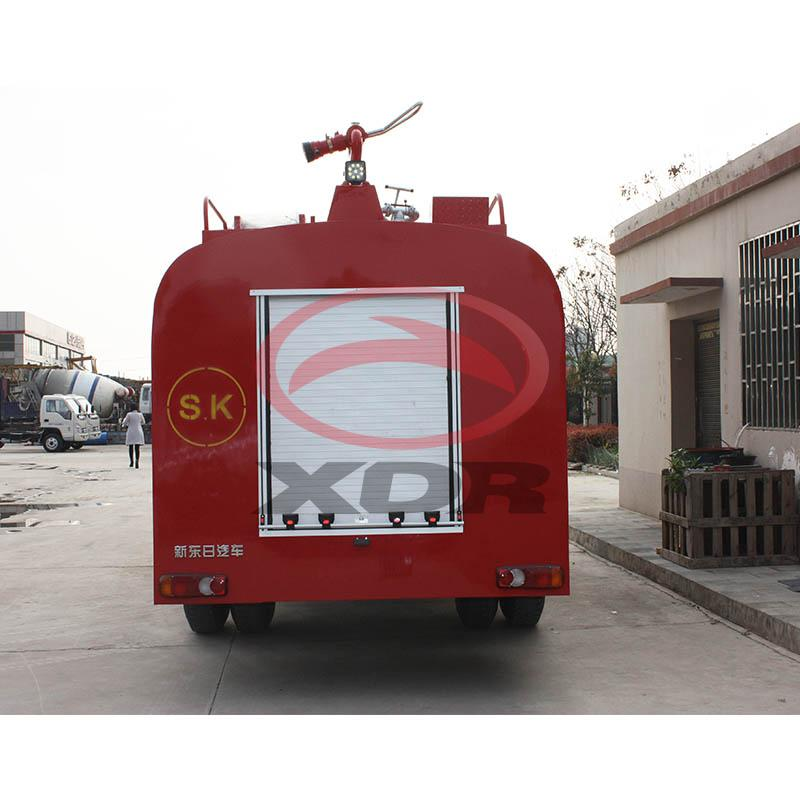 Front washing equipped fire sprinkler vehicle