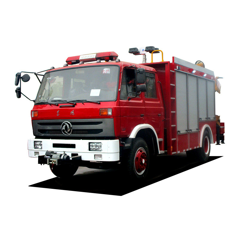 emergency and rescue fire fighting truck